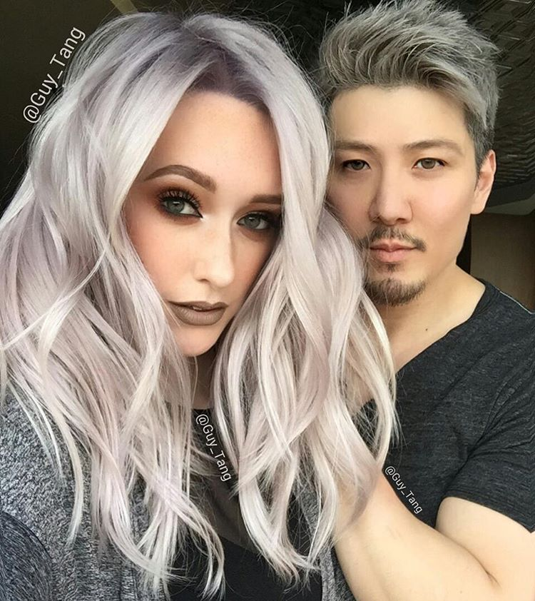 "Guy Tang® on Instagram: ""I took @jkissamakeup super blonde using @olaplex  to keep it in good condition and #olaplex no2 in between Lightening and  toning ..."