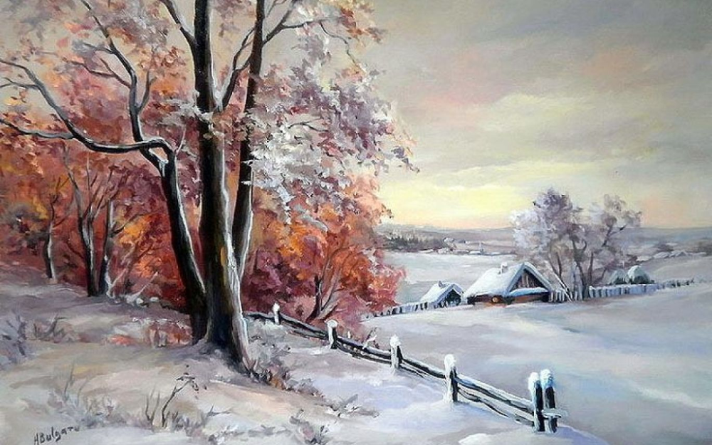 famous frosty landscape painting - Google Search