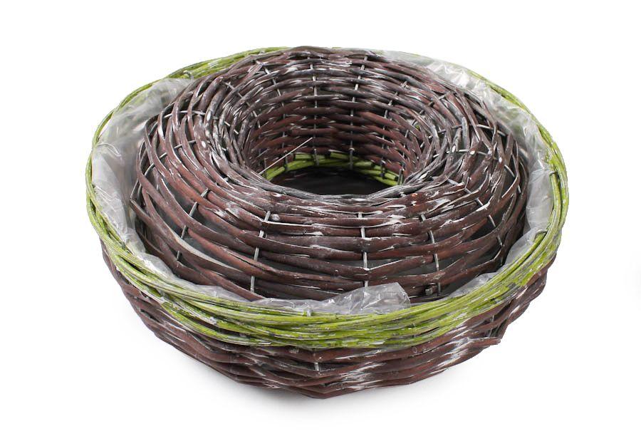 Komplet Koszy Wiklinowych Opona S 2 Wicker Wicker Baskets Decorative Wicker Basket