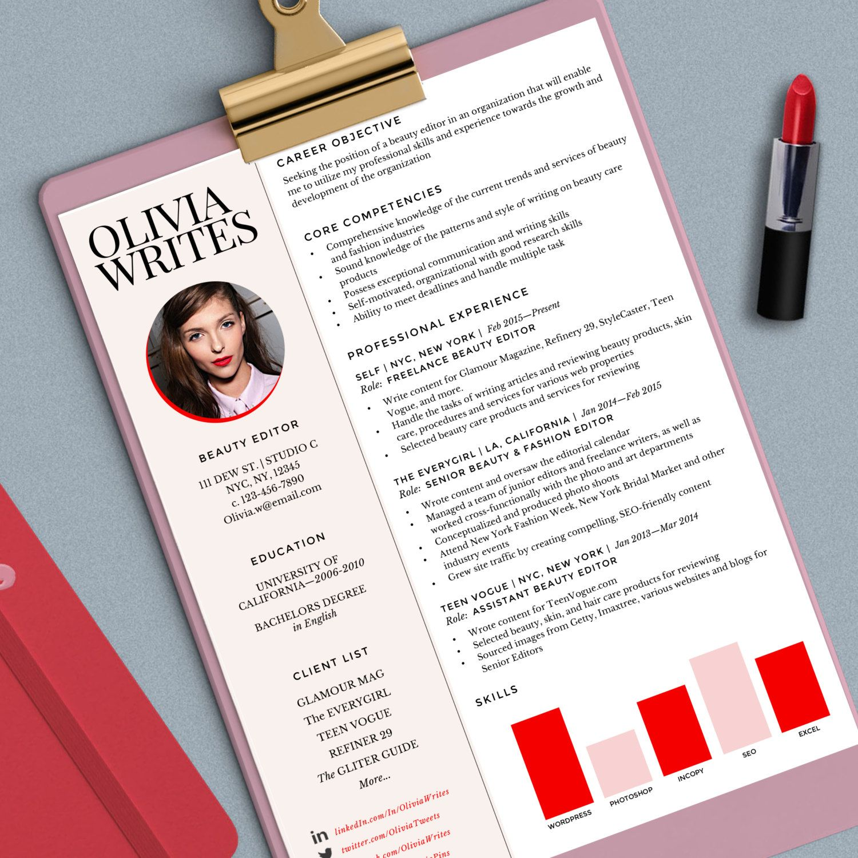Modern Feminine Resume Template Custom Resume Cv Instant Download Ms Word Format Fully Editable Resume Design Feminine Resume Resume Examples
