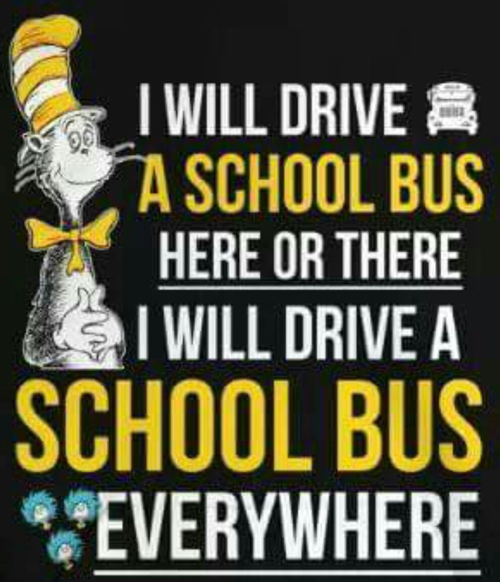 Dr Seuss School Bus Driver Gift Ideas School Bus Driving School Bus