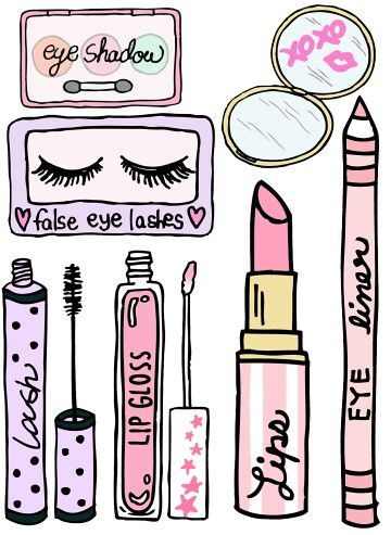 Stickers in 2019 Makeup illustration Makeup wallpapers
