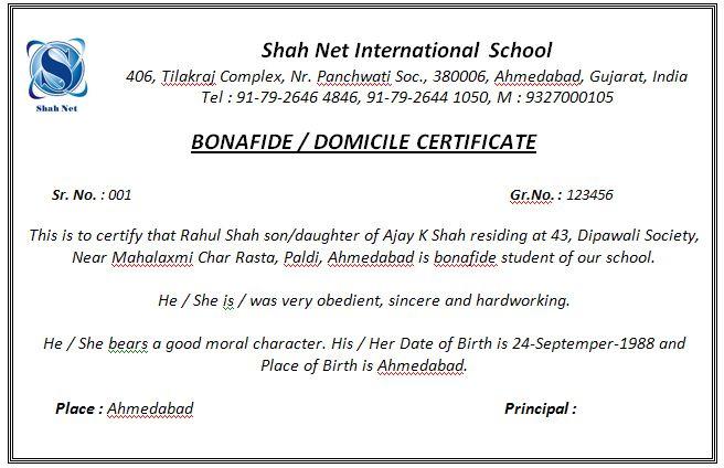 Request Letter Format Bonafide Certificate. Bonafide Certificate  certificates Pinterest