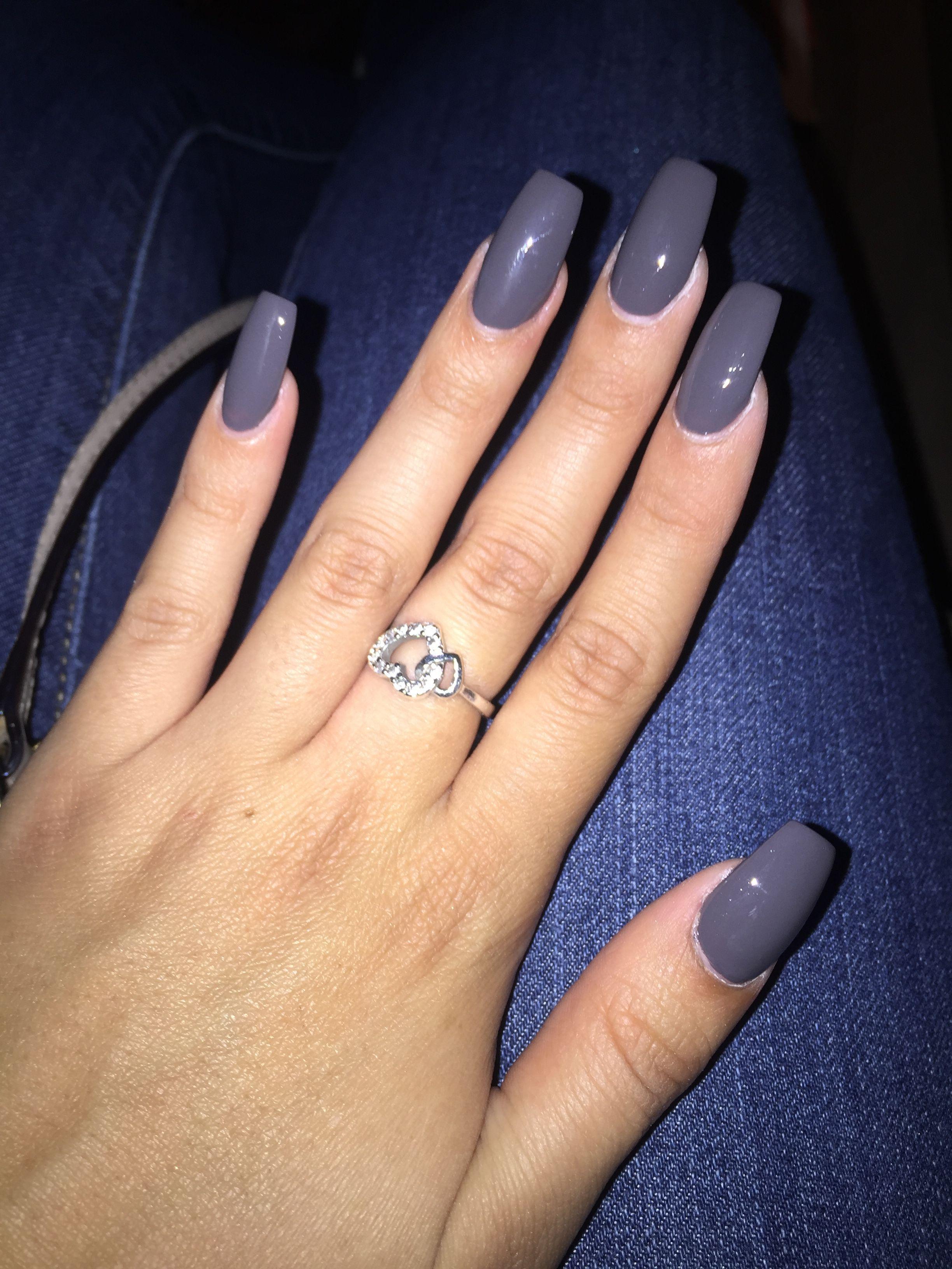Gray nails acrylicnails nails gray nails nails