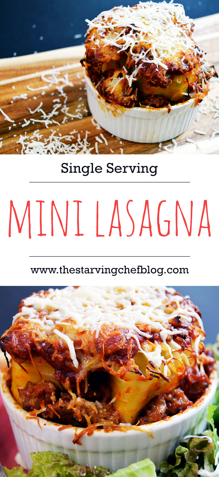 The Starving Chef | Here is a recipe for a small dish with a ton of flavor - single serving lasagna!
