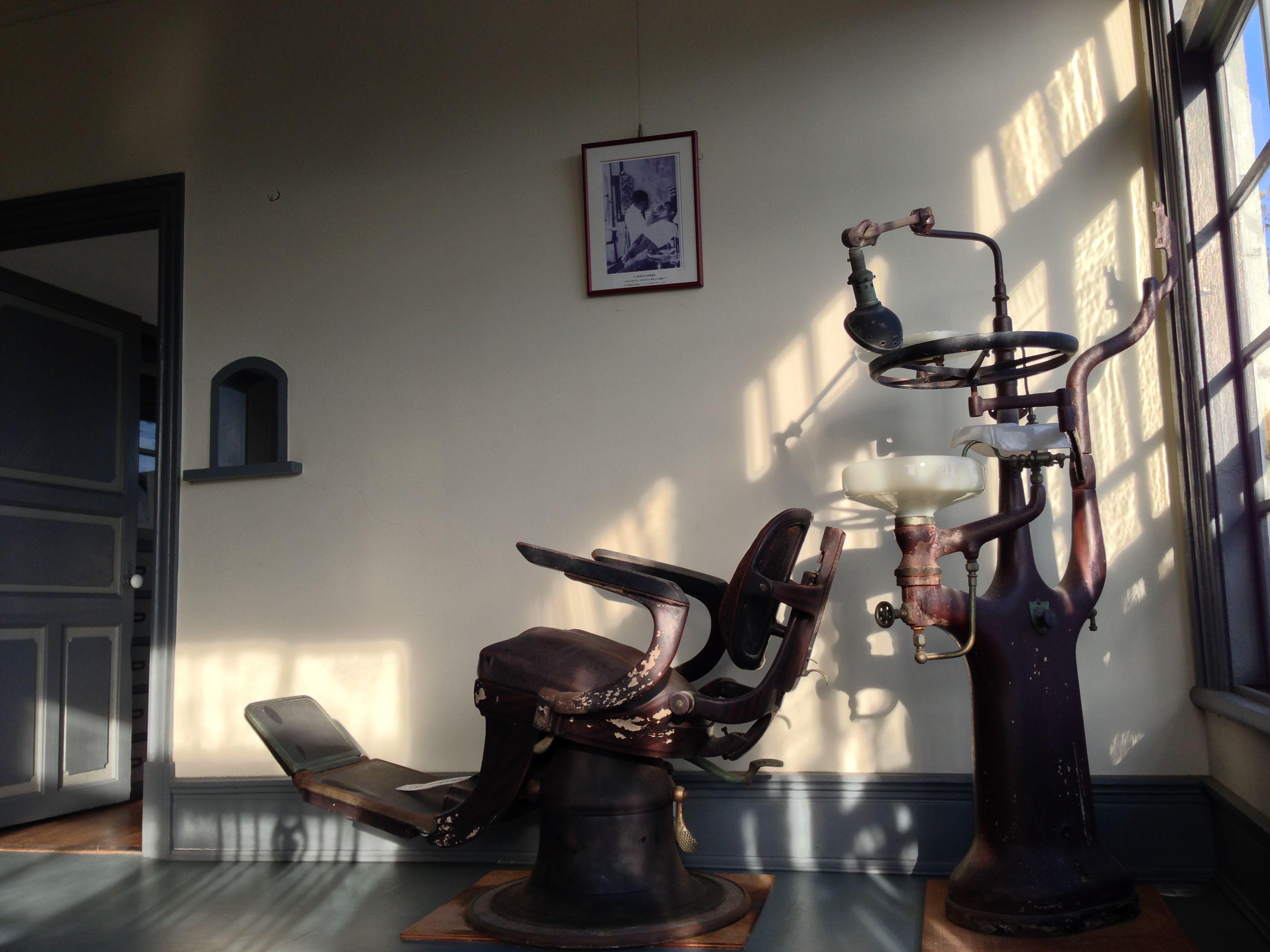 旧五十嵐邸の歯医者診察台