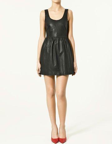 69e9291bca Zara leather dress Piel