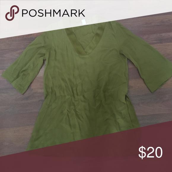 Olive Green Blouse - Size 8 Olive Green Blouse - Size 8 H&M Tops Blouses