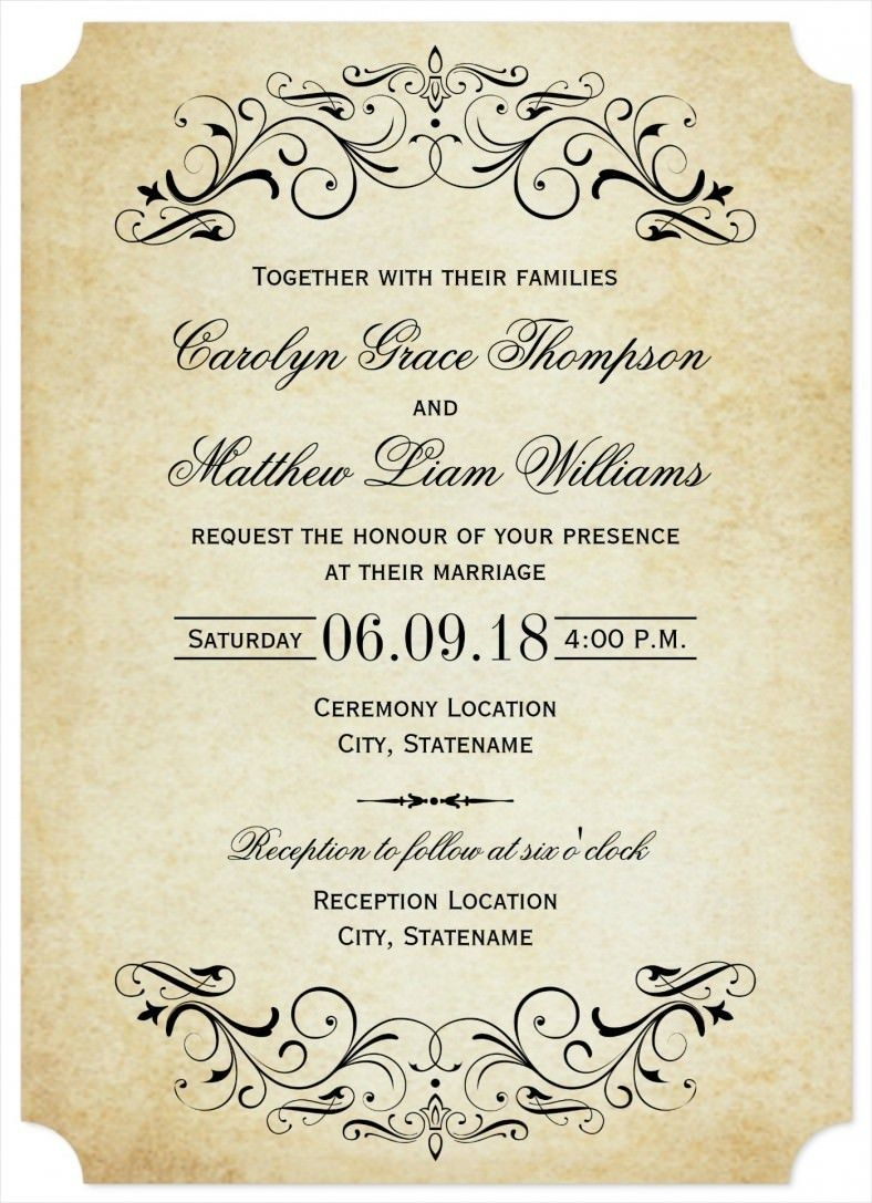 32 Amazing Image Of Free Printable Wedding Invitation Templates Download Denchaihosp Com Vintage Wedding Invitations Templates Free Wedding Invitation Templates Classy Wedding Invitations