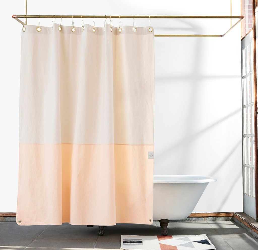 Orient Cloud Brooklyn Made Canvas Shower Curtain Modern