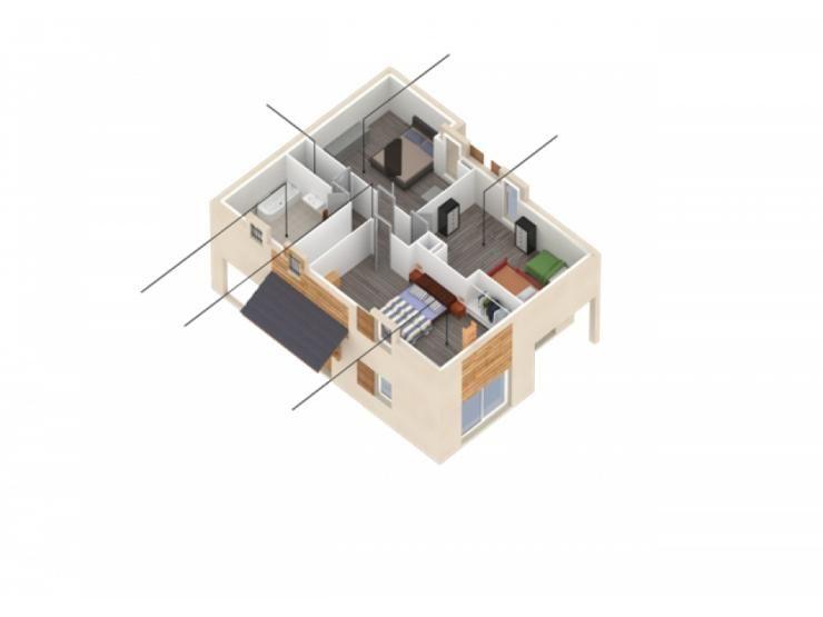 Plans de maison  1er étage du modèle Natura Alpes  maison
