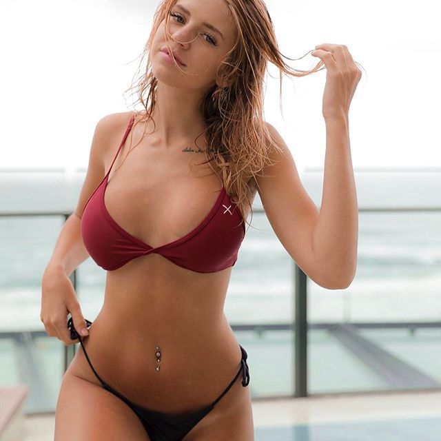pool day wearing boutinela babe wearing the plum red. Black Bedroom Furniture Sets. Home Design Ideas