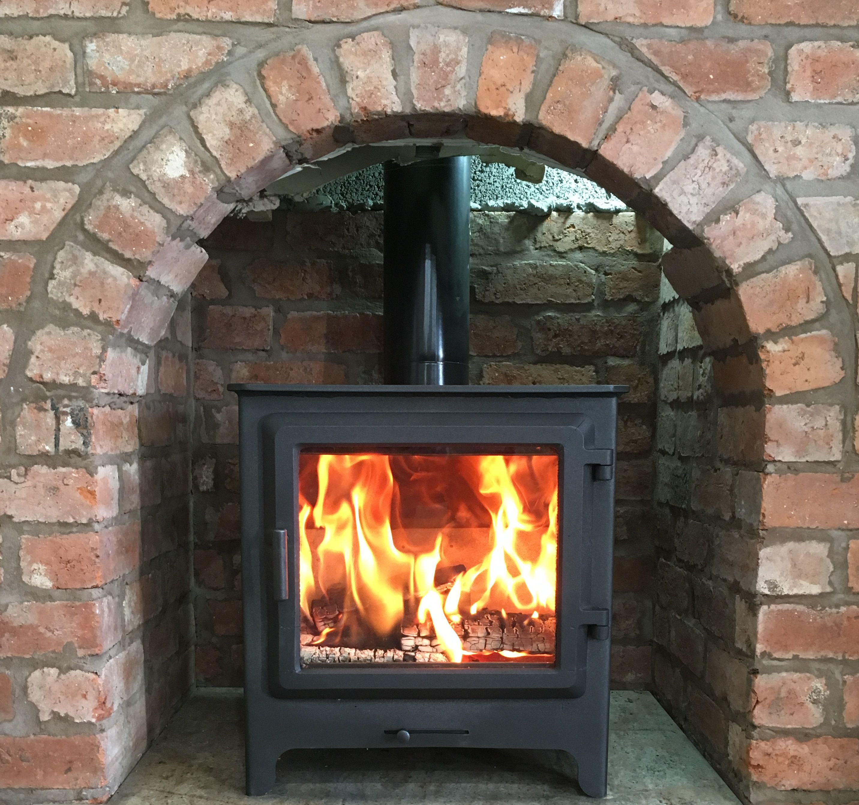 new merlin slimline plus woodburner a very large window