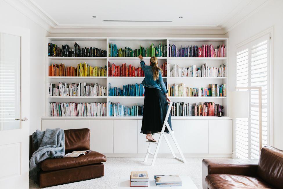 Bookshelves By Color Est Magazine