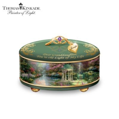 Personalized Thomas Kinkade Music Box For Granddaughters THOMAS