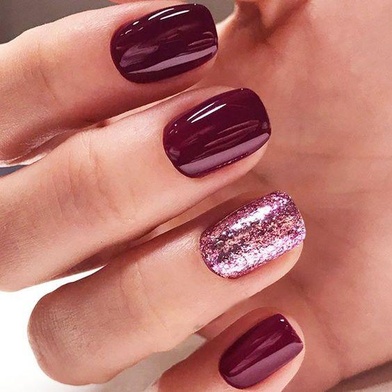 30 Stunning Burgundy Nails Designs Fall Burgundy Nails Wine Red Stiletto Nails Burgundy Wine Nail Color Long Square Co Wine Nails Nails Short Nail Manicure