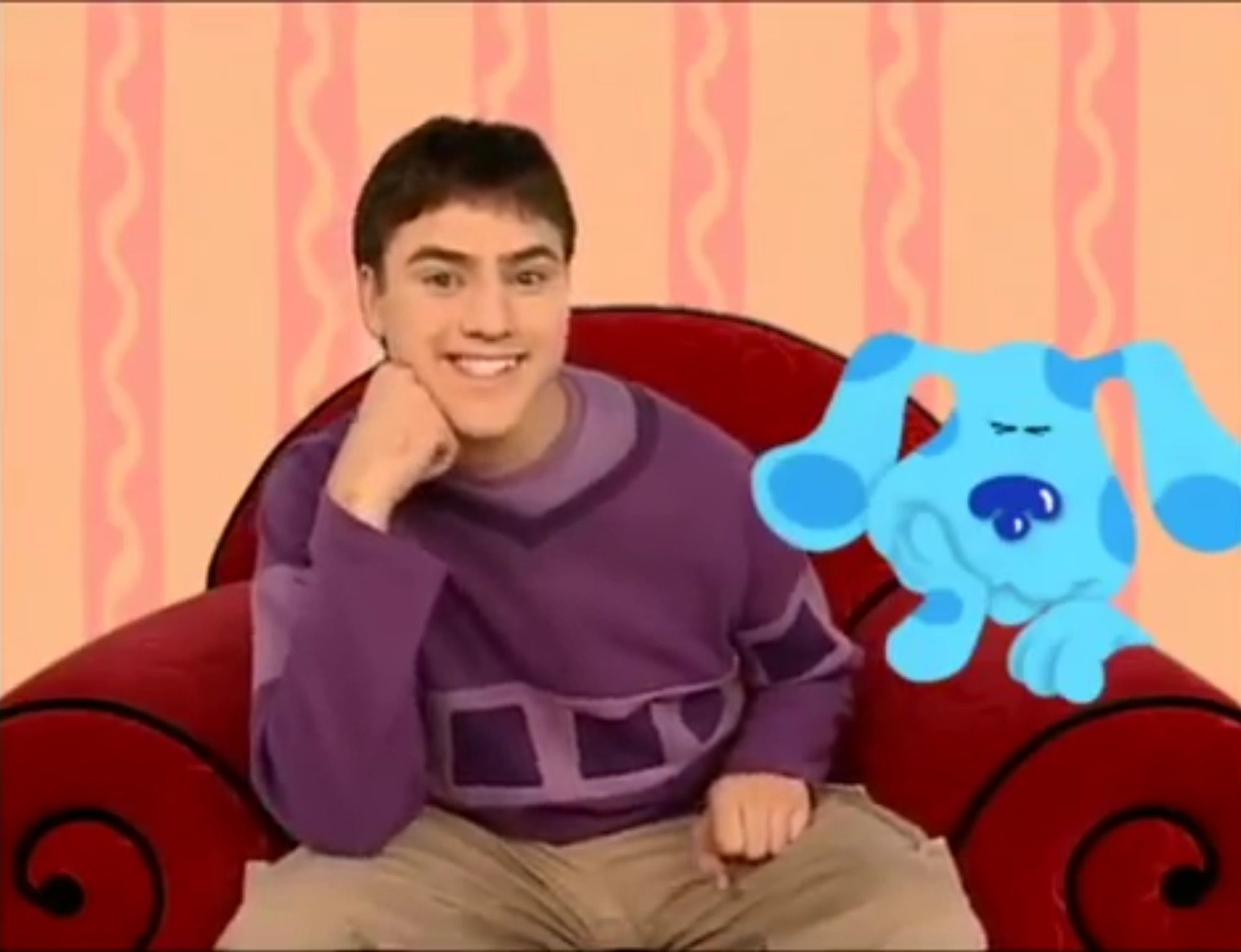 Blues clues thinking chair - You Know What To Do Sit Down In Our Thinking Chair And Think Think