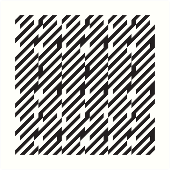 Abstract Black And White Lines Pattern Art Print By Kallyfactory Black And White Lines Art Prints Optical Illusions