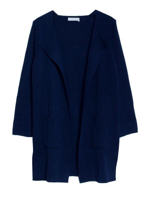 Strickjacke lang dunkelblau
