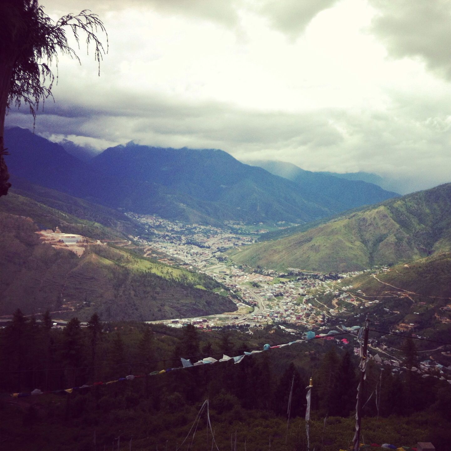 View from South of Thimphu.