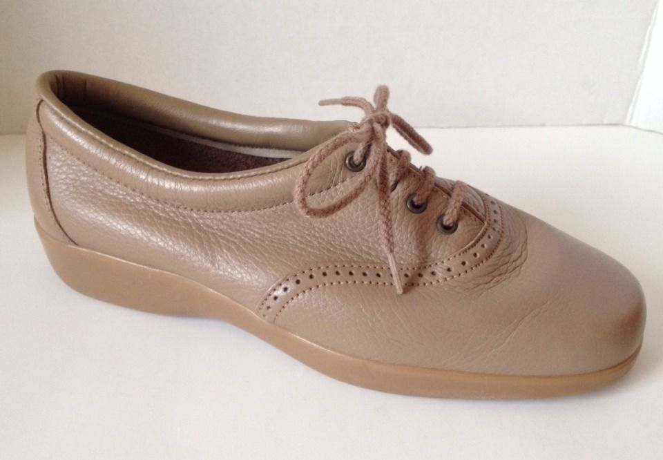 Womens I Love Comfort Shoes Size 7 D Wide Beige Made in USA Oxford Lace 7W #ILoveComfort #Oxfords