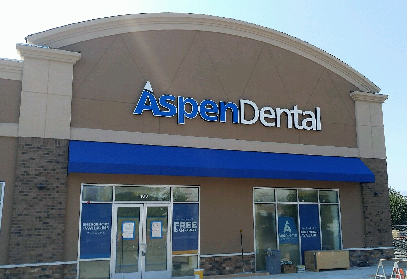 Aspen Dental In Wenatchee Wa Is About Ready To Open We Just Finished Up Some These Amazing Awnings Teeth H Awning Residential Awnings Aspen Dental