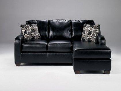 Devin Durablend Black Sofa Chaise Chaise Sofa Black Sofa Black