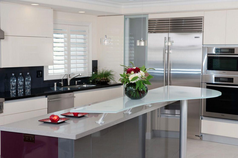 Barra cocina cubierta vidrio templado dise o - Vidrio templado cocina ...