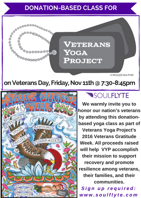 This Veteran S Day Yoga Teachers From Coast To Coast Will Be Holding Donation Based Yoga Classes To Benefit The Wor Free Yoga Classes Yoga Teachers Yoga Class