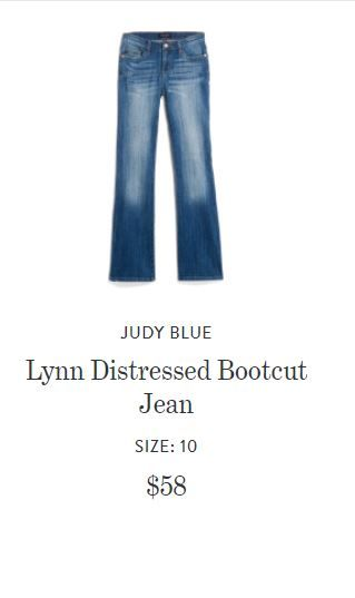 403764a3a86 Judy Blue Lynn Distressed Bootcut Jean StitchFix I would love some boot cut  jeans in a nice quality material. No rips
