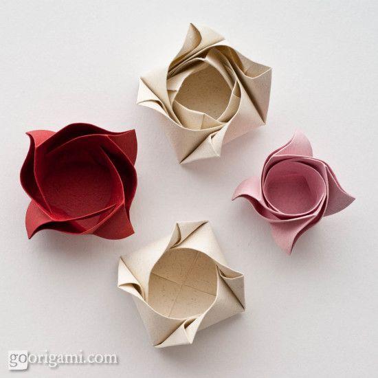 Photo of Rosenkasten von Maria Sinayskaya – Diagramm   Geh Origami