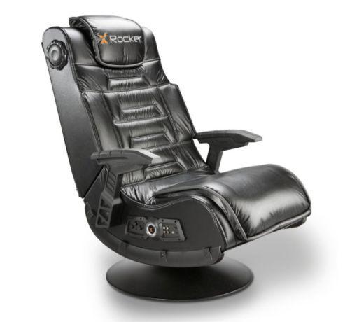 Video-Gaming-Black-Pedestal-Rocker-Chair-Wireless-Audio-Speakers