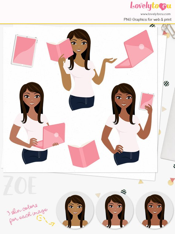 Woman Business Character Clipart Professional Girl Boss