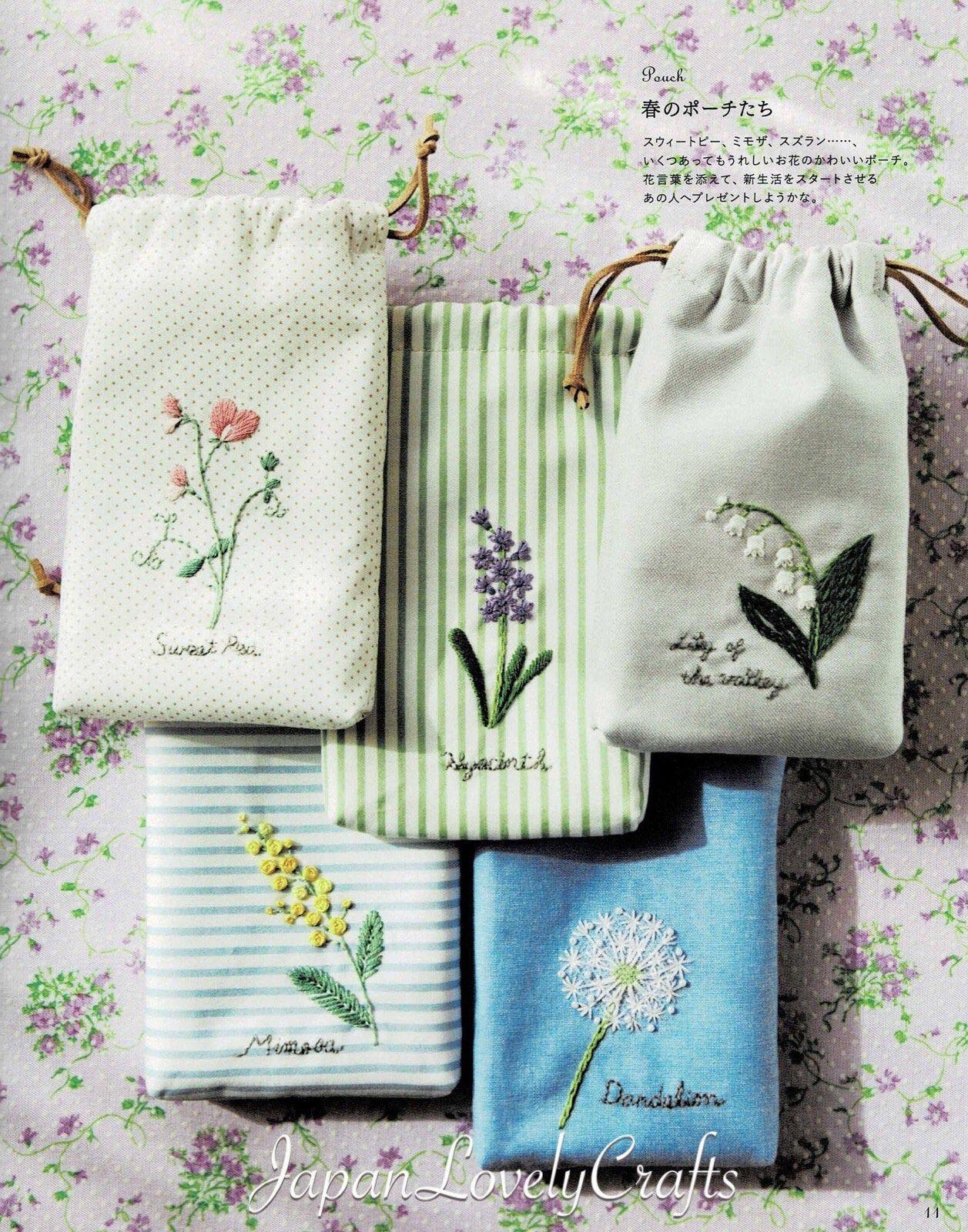 Ähnliche Artikel wie Japanische Hand Stickerei Blumen-Muster, gestickte Blumen Dekor Wand Kunst-Geschenk, einfach Stickerei Tutorial, wilde Garten Blumen Muster auf Etsy
