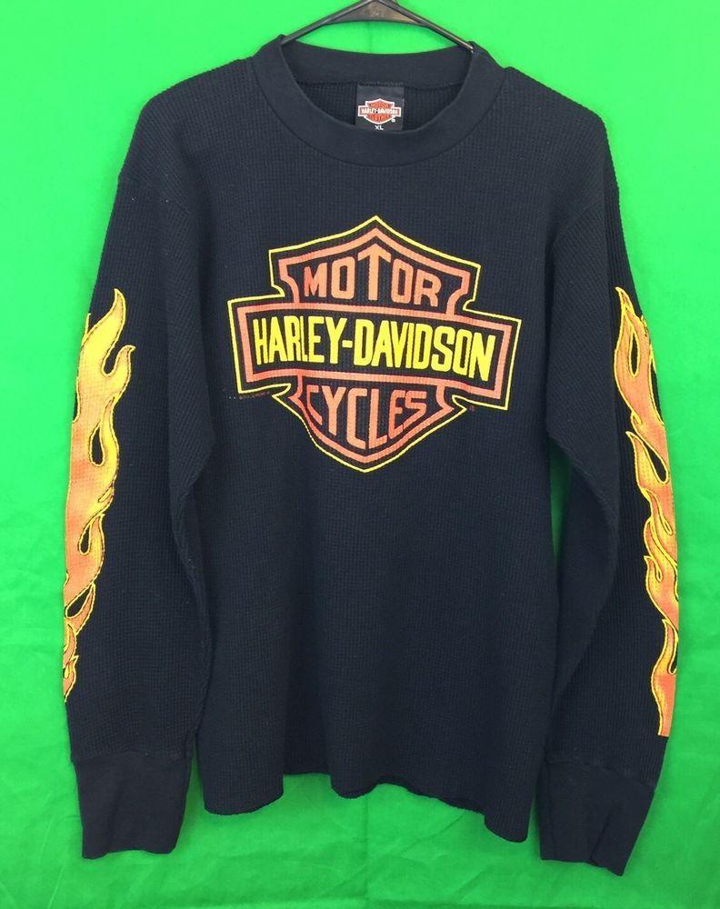 Harley Davidson Motorcycles Monty's Cycle Shop Black Thermal Shirt