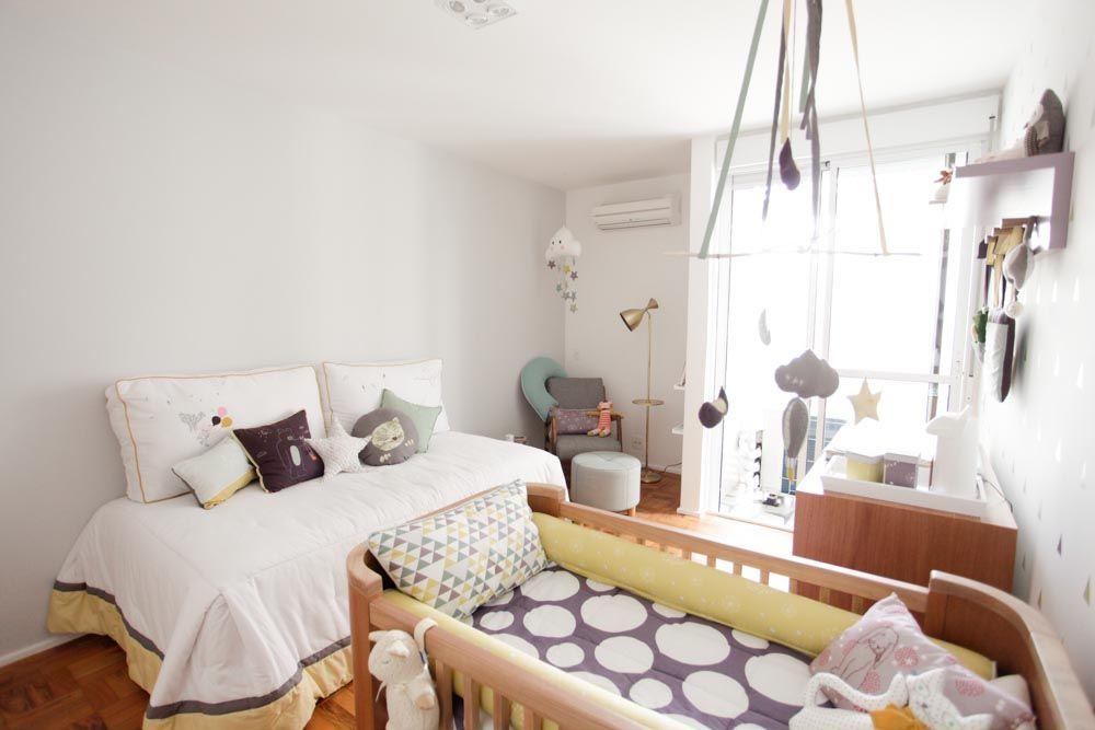 decoração moderna de quarto de bebe, kit berço moderno, adesivo de parede