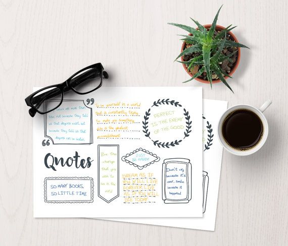 Bujo Quote Template Bullet Journal Quotes, bullet journal template