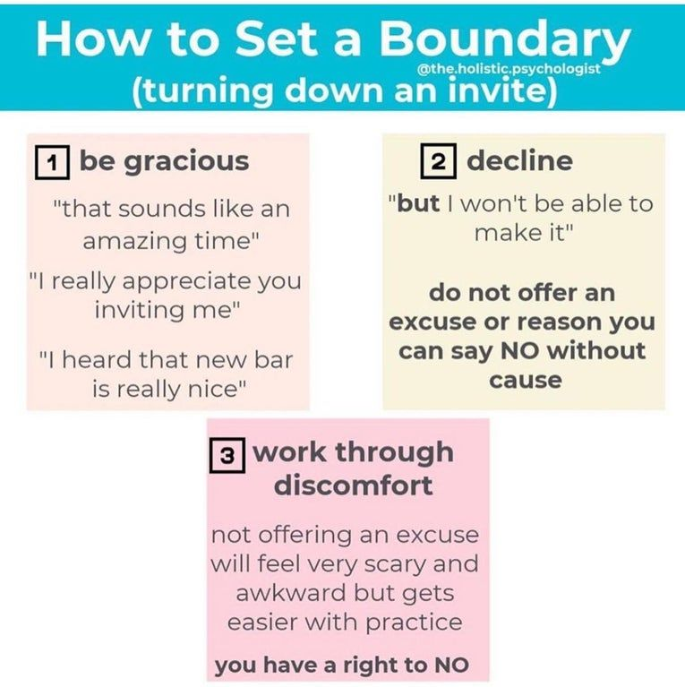 How to turn down an invite. coolguides Therapy