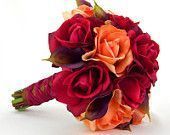 Herbst Hochzeitsstrauß Herbst Braut Rosen Calla Lilien Rot Orange Braun Lila Re - #Braun #Braut #Calla #Herbst #Hochzeitsstrauß #Lila #Lilien #orange #Rosen #rot #brautblume