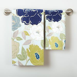 Painterly Floral Printed Velour Towel Collection | Bathroom| Bed & Bath | World Market