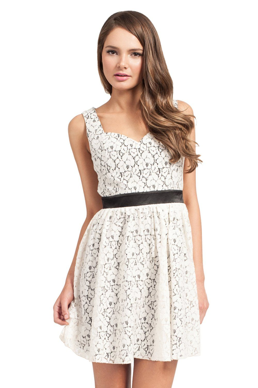 Little mistress white lace detail cutout back prom dress my style