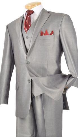 Vinci Men Suit V2RR-1 Grey