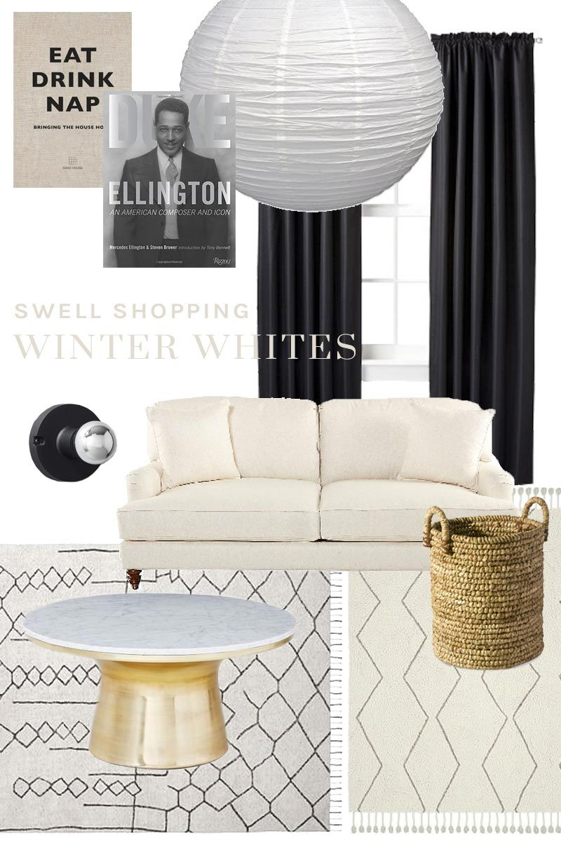 White living room with eclectic traditional on Thou Swell @thouswellblog