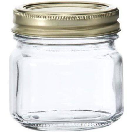 Anchor Hocking Half Pint 8oz Glass Canning Jar Set 12pk Walmart Com Glass Canning Jars Jar Mason Jars With Handles