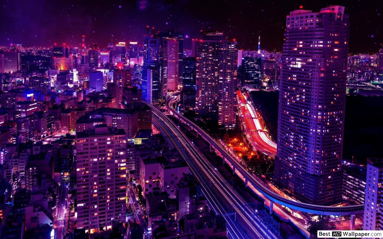 Night Time Wallpaer 4k In 2020 Tokyo Skyline Tokyo Night Tokyo