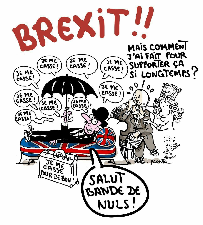 Plantu (2016-06-24) oui au Brexit, non à L'Europe