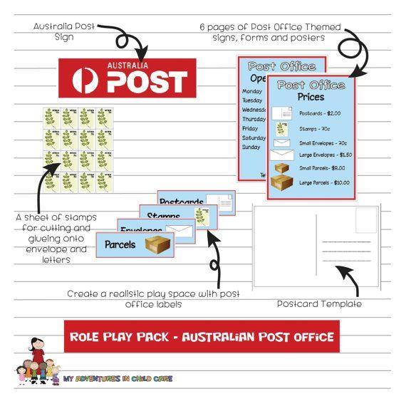 Preschool Australian Post Office Dramatic Role Play Set Dramatic Play Area Dramatic Play Role Play Areas