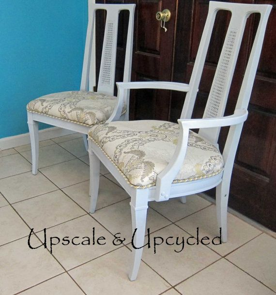 Refinished Drexel Heritage Dining Chairs by UpscaleandUpcycled $80 00
