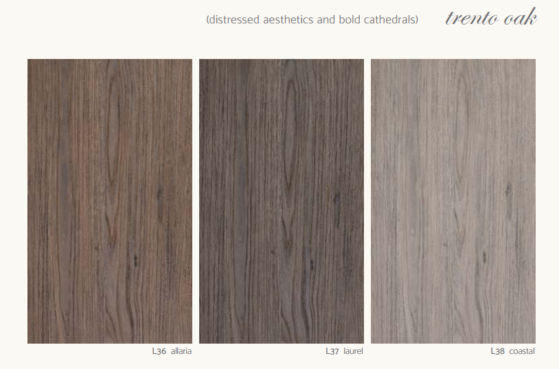 Trento Oak Distressed Aesthetics And Bold Cathedrals Texture Melamine Wood