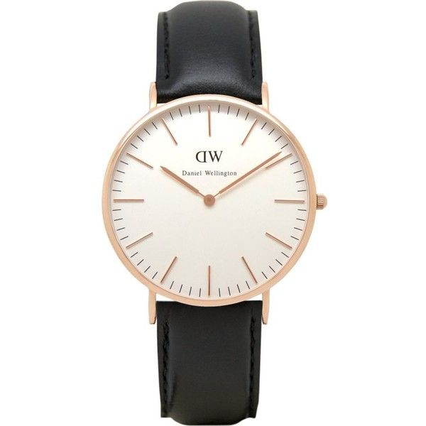 DANIEL WELLINGTON 0107DW Classic Sheffield watch ($240) ❤ liked on Polyvore featuring men's fashion, men's jewelry, men's watches, white, mens stainless steel watches, mens white watches, mens white dial watches and mens leather strap watches